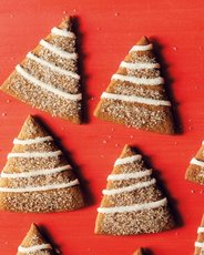Gingerbread Trees with Lemon Icing