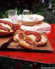 Grilled Kielbasa Ring with Sauerkraut