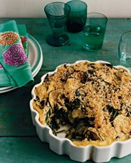 Rice and Spinach Casserole with Basil