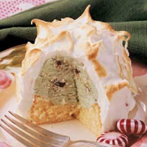 Minty Baked Alaska Recipe