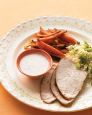 Spice-Rubbed Turkey Breast with Roasted Carrots