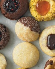 Marbleized Ball Cookies