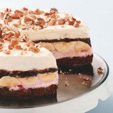 Banana Split Brownie Cake Recipe