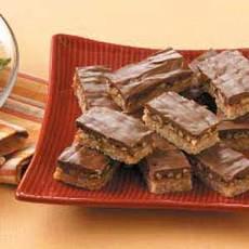 Caramel Butter-Pecan Bars Recipe