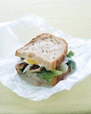 Tuna and Egg Sandwich with Garlic Vinaigrette