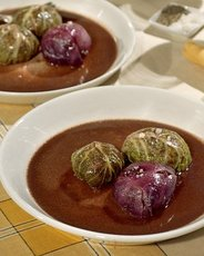 Braised Oxtails and Cabbage