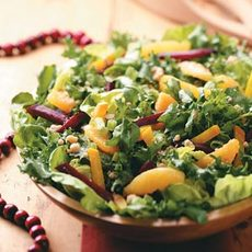 Beet Salad with Orange-Walnut Dressing Recipe