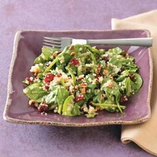 Quinoa Wilted Spinach Salad Recipe