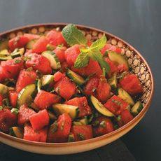 Minty-Watermelon Cucumber Salad Recipe