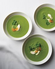 Pea and Parsley Soup with Golden Caviar