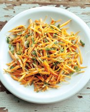 Carrot Salad with Parsley and Spring Onions