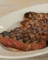 New York Strip Steaks with Homemade Worcestershire Sauce