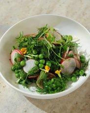 Spring Salad with Herbs, Radish, and Peas