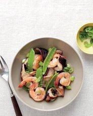 Shiitake, Shrimp, and Snow Pea Stir-Fry