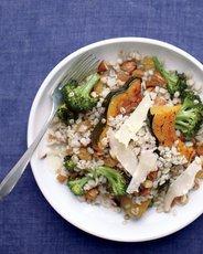 Barley Salad with Squash And Broccoli