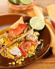 Grilled-Fish Tacos with Roasted-Chile-and-Avocado Salsa
