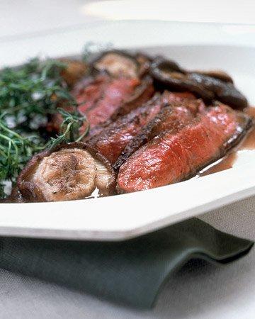 Shell Steak with Shiitake Mushroom Sauce