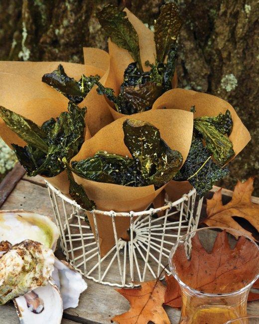Kale Crisps with Sea Salt and Lemon | Bottomless Bites