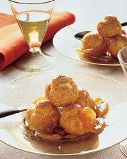 Golden Pear Cream Puffs