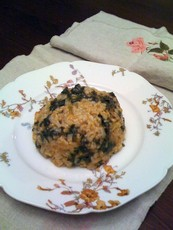 Spanakorizo (Spinach & Rice)