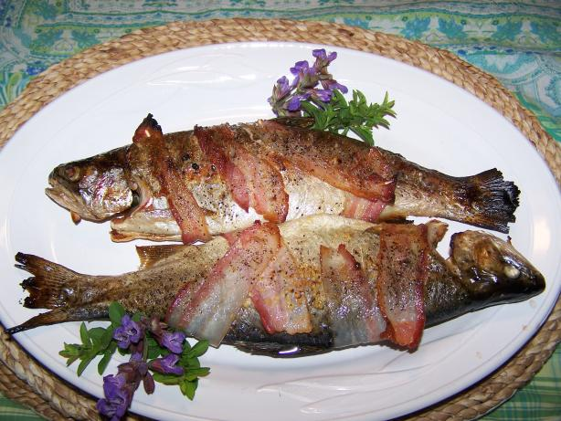 Bacon-Wrapped Trout