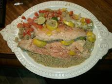 Citrus Steamed Trout With Quinoa Pilaf