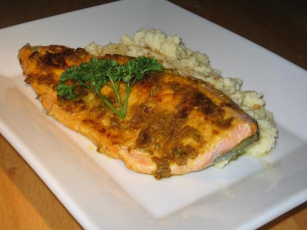 Spice Rubbed Trout With Cauliflower Puree