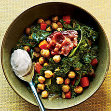 Garbanzo Beans and Greens