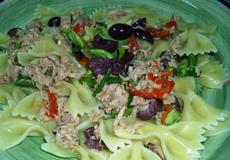 Javier's Farfalle Tonno With Fresh Basil and Greek Olives