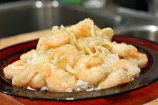 Almond Shrimp with Amaretto Butter