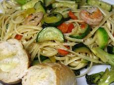 Shrimp and Pasta Primavera