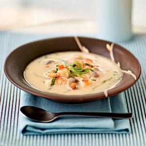 Spicy Coconut Shrimp Soup | Bottomless Bites