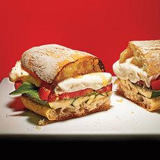 Grilled Zucchini Caprese Sandwiches