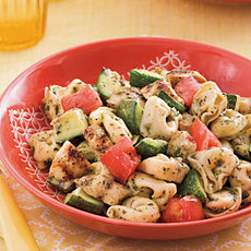 Grilled Chicken-and-Veggie Tortellini