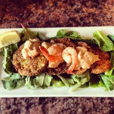 Fried Green Tomatoes With Crawfish or Shrimp Remoulade