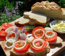 Fresh Tomato Sandwiches Saturday Lunch on Longmeadow Farm