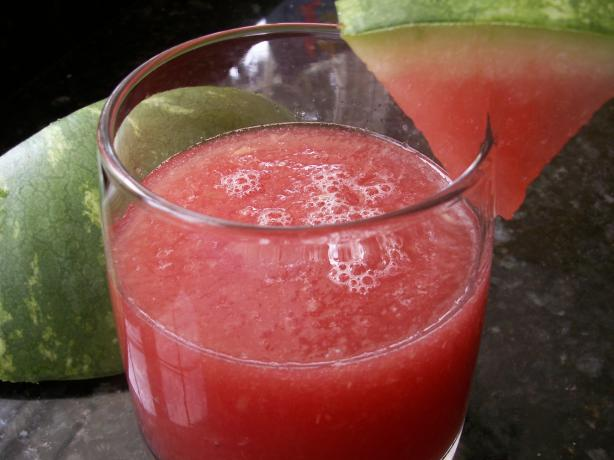 Watermelon Ginger Frosted Drink