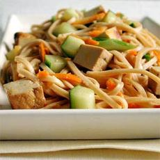 Udon Noodles with Sesame and Tofu