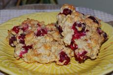Lemon Cranberry Oat Scones