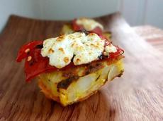 Montadito De Tortilla De Patatas - Potato Omelette Open-Faced Sa