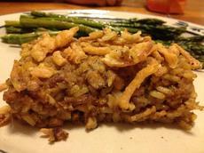 Brown Rice, Nut & Tempeh Casserole