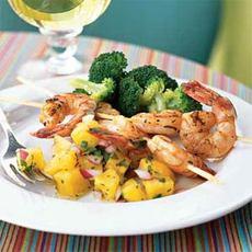 Shrimp Sate with Pineapple Salsa