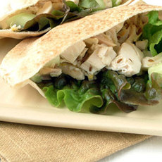 Roast Chicken Pitas with Cumin-Lemon Dressing