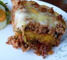 """Pastelón (Sweet Plantain """"Lasagna"""")"""