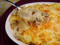 Sausage Sauerkraut Bake