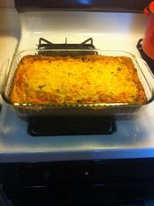 Breakfast Casserole With a Biscuit Crust