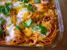 Southwestern Baked Spaghetti