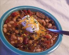 Sirloin Three Bean Chili