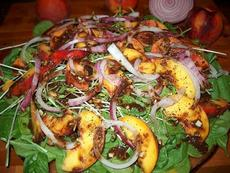 Just Peachy Spinach Salad