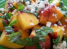 Fresh Peaches With Goat Cheese